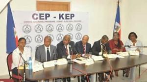 Des membres du Conseil Electoral Provisoire crédit photo:haitiinfo9.canalblog.com