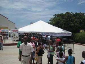 Des participants au Parc Historique de la canne à sucre